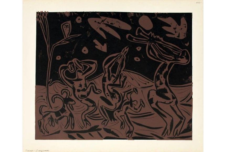 Pablo Picasso - Les Danseurs au Hibou, 1959