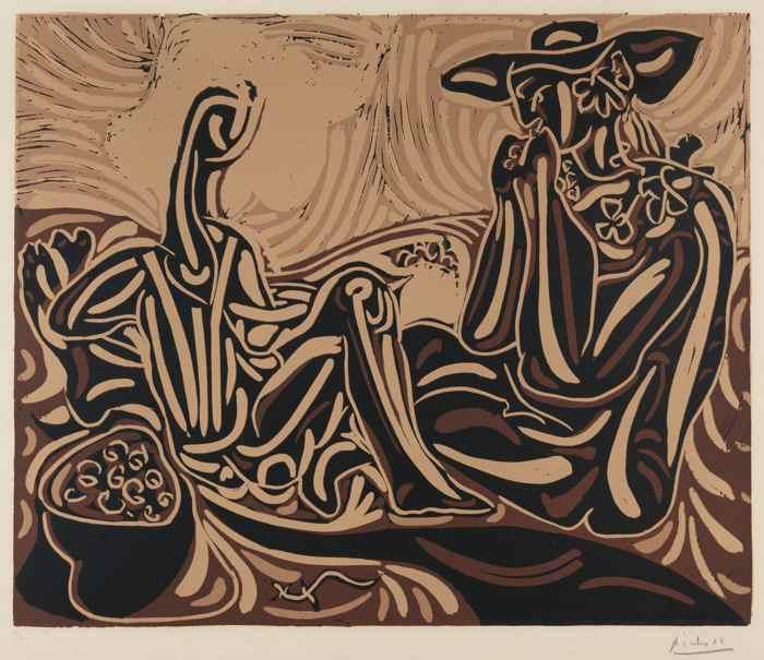 Pablo Picasso-Les Vendangeurs-1959