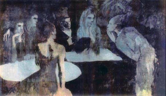 Pablo Picasso-Les noces de Pierrette-1905