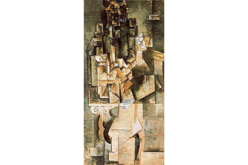Paul Cubism says Cubism in paris at the start of the century was an abstract work and synthetic works of objects on canvas - from the cubism book