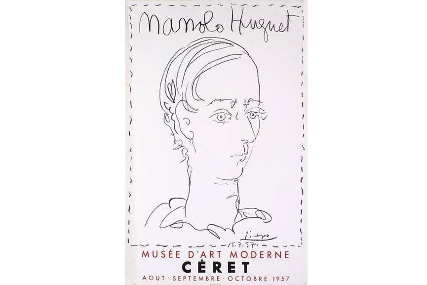 Pablo Picasso - Manolo Hugnet, Ceret, Musee D'art Moderne, 1957