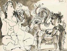 Pablo Picasso-Mere Enfants Et Belier-1967