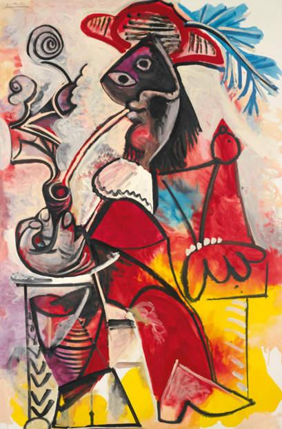 Pablo Picasso-Mousquetaire à la pipe-1969