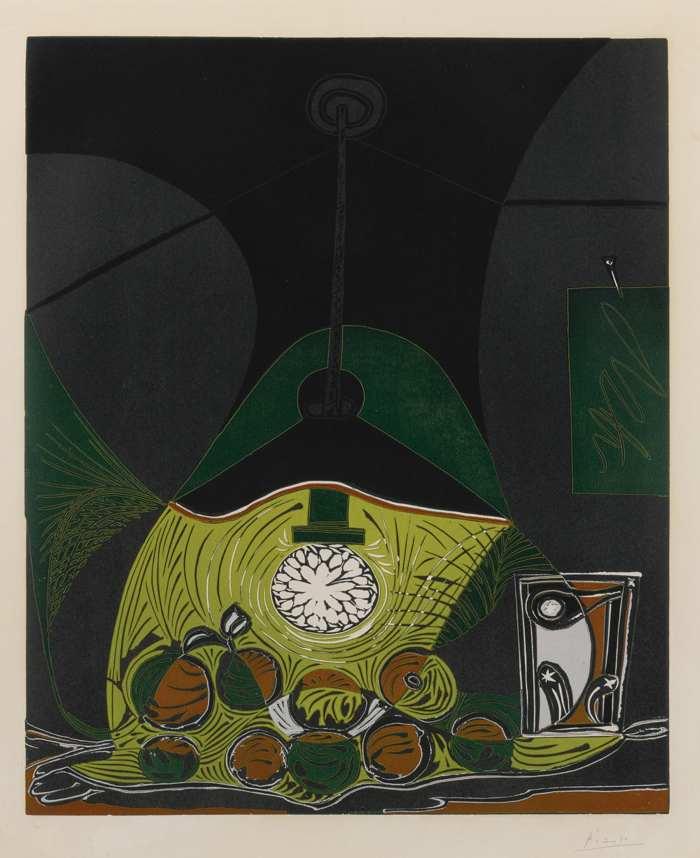 Pablo Picasso-Nature Morte Sous La Lamp-1962