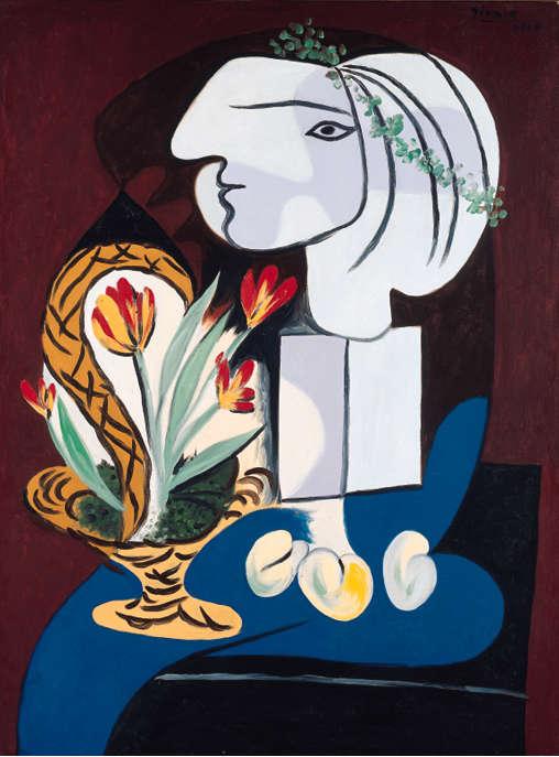 Pablo Picasso-Nature Morte Aux Tulipes-1932