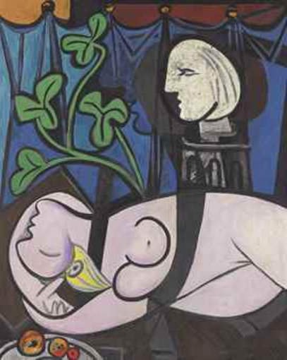 Pablo Picasso-Nude, Green Leaves and Bust-1932