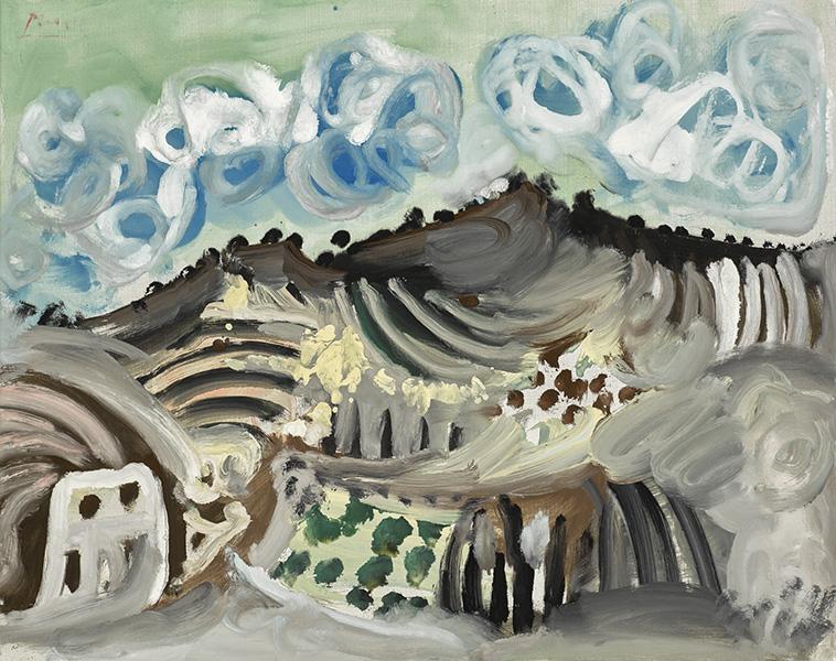 Pablo Picasso - Paysage, Vu d'Atelier de l'Artiste