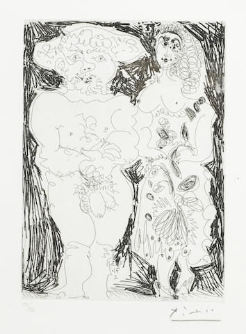 Pablo Picasso-Paysan et Maja pl. 74 from Series 156-1970