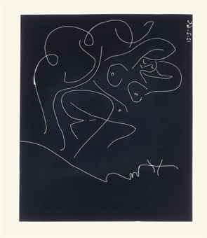 Pablo Picasso-Peintre et Modele au Fauteuil a Bascule-1965