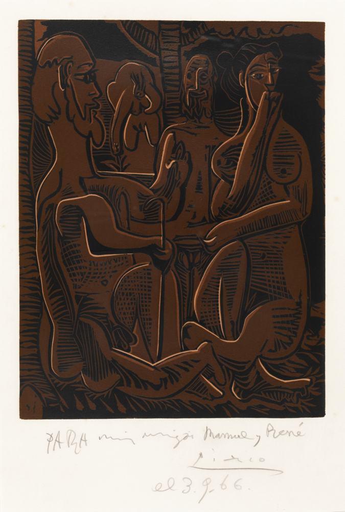 Pablo Picasso-Petit Dejeuner Sur L'Herbe, D'Apres Manet-1962