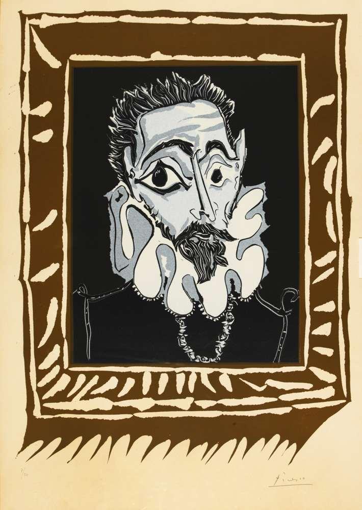 Pablo Picasso-Portrait D'Homme A La Fraise (Variation D'Apres El Greco)-1963