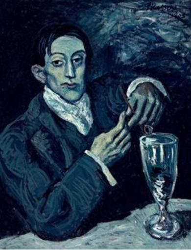 Pablo Picasso-Portrait d'Angel Fernández de Soto-1903