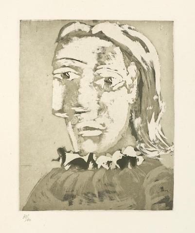 Pablo Picasso-Portrait de Femme au Col en ruche: Marie-Therese-1939