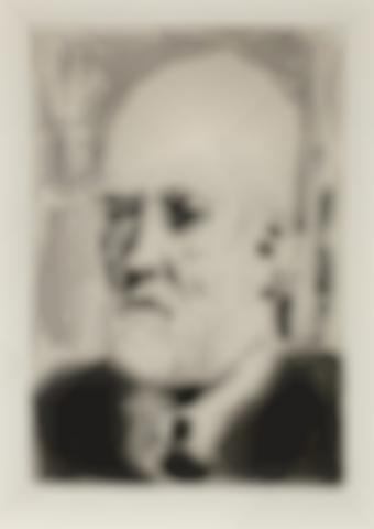 Pablo Picasso-Portrait de Vollard II, from La Suite Vollard-1937