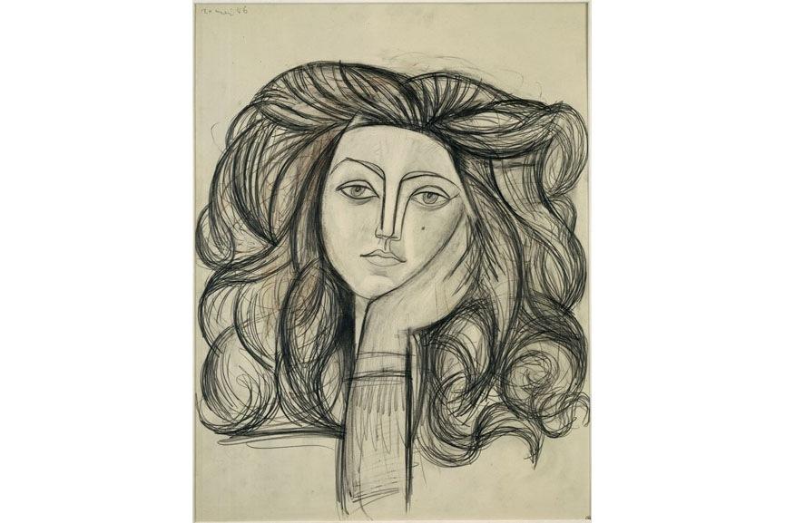 Pablo Picasso - Portrait of Françoise, 1954