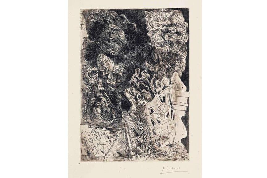 Pablo Picasso - Rembrandt a la Palette, 1934