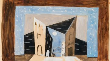 Pablo Picasso - Scene design for Pulcinella