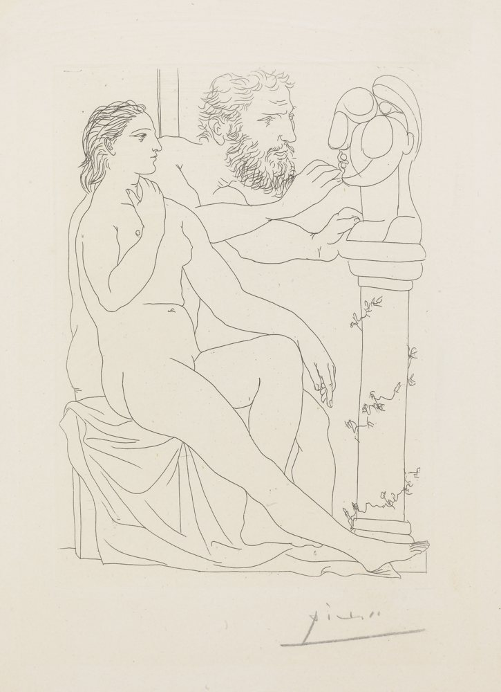 Pablo Picasso-Sculpteur, Modele Et Buste Sculpte-1933