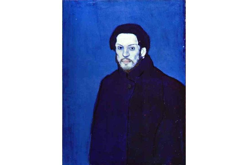 an analysis of the life of pablo picasso and his blue period of painting Technical analysis of the materials and techniques of pablo picasso : from the blue period to the blue seas of the  painting medium - house paint - to fuel his .