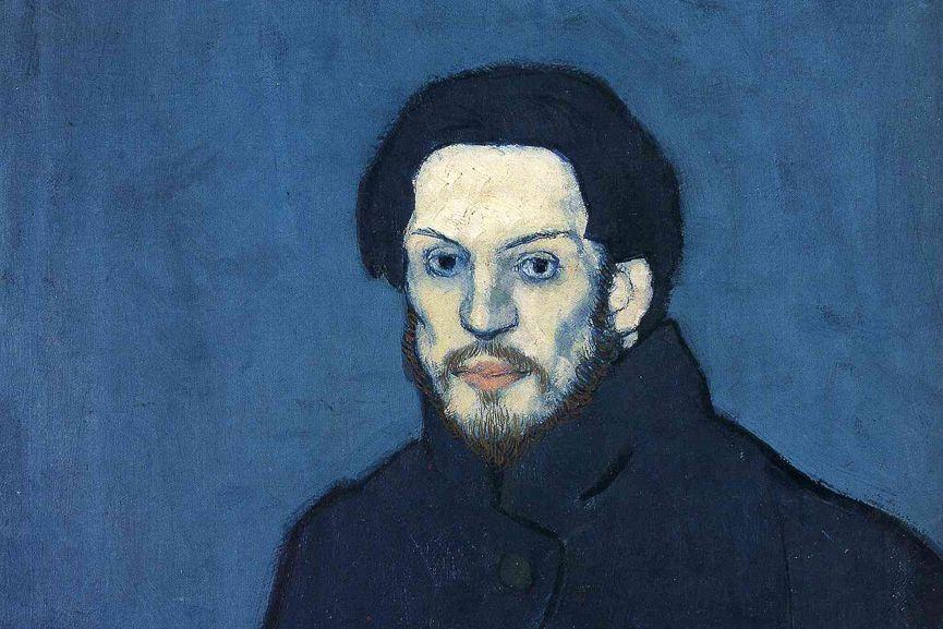 Pablo Picasso - Self Portrait,1901, detail