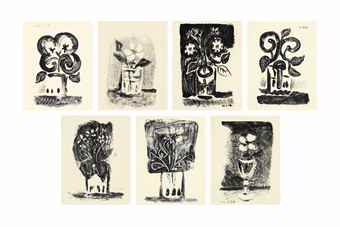 Pablo Picasso-Seven prints by the artist-1947
