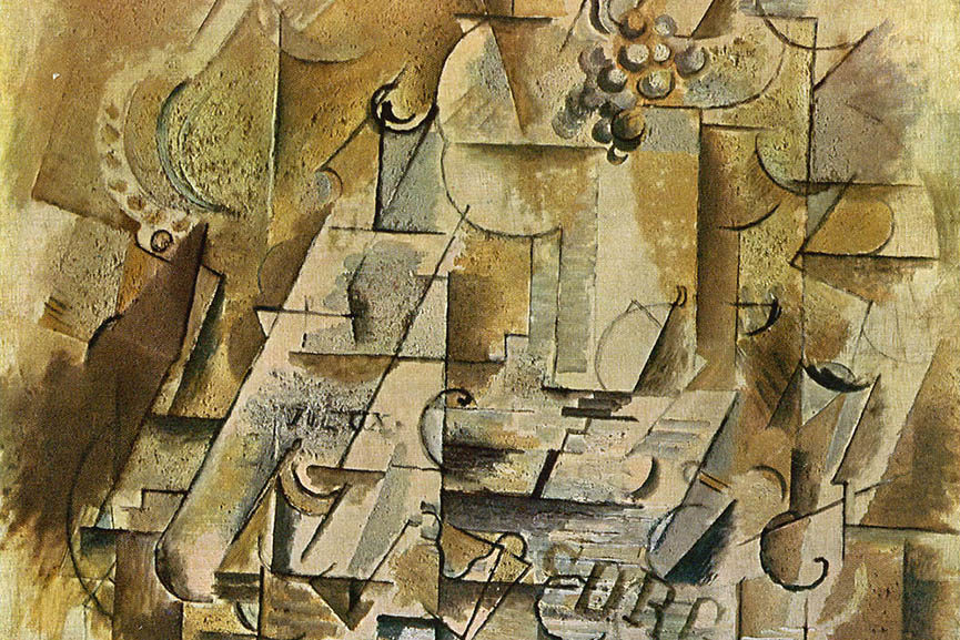 Pablo Picasso - Still Life with a bunch of Grapes, 1912