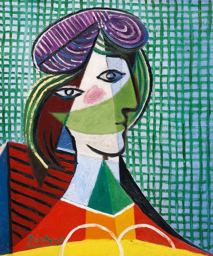 Pablo Picasso-Tête de femme-1935