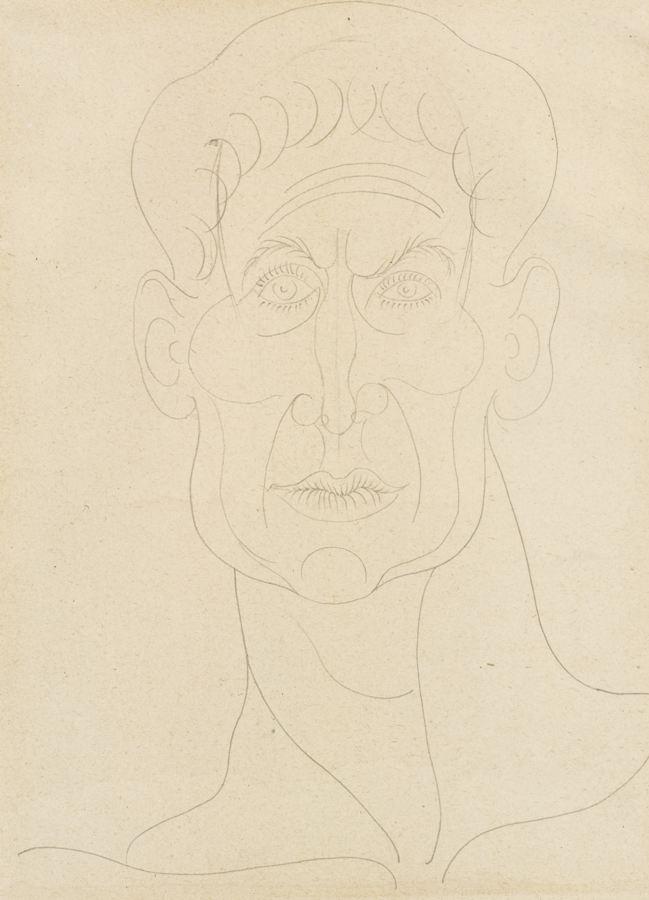 Pablo Picasso-Tete D'Homme-1940