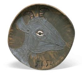 Pablo Picasso-Tete De Chevre De Profil-1952