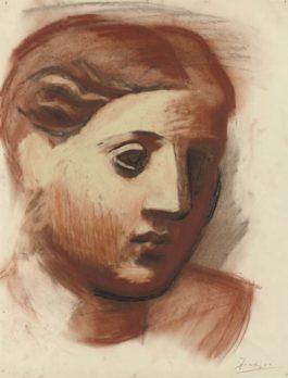 Pablo Picasso-Tete De Femme-1921