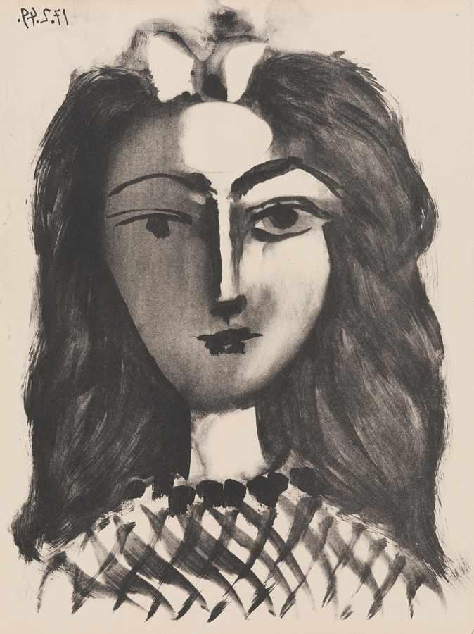 Pablo Picasso-Tete De Jeune Fille-1949