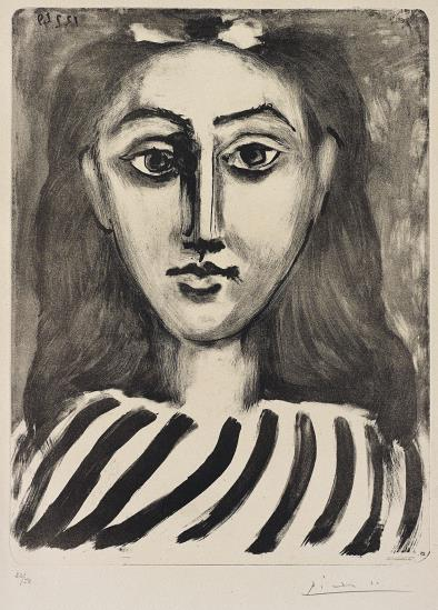 Pablo Picasso-Tete de jeune fille (Head of a Young Girl)-1949