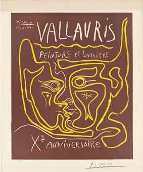 Pablo Picasso-Vallauris Peinture et Lumiere, Xe Anniversaire-1964