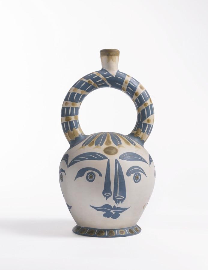 Pablo Picasso-Vase Azteque Aux Quatre Visages (A. R. 402)-1957