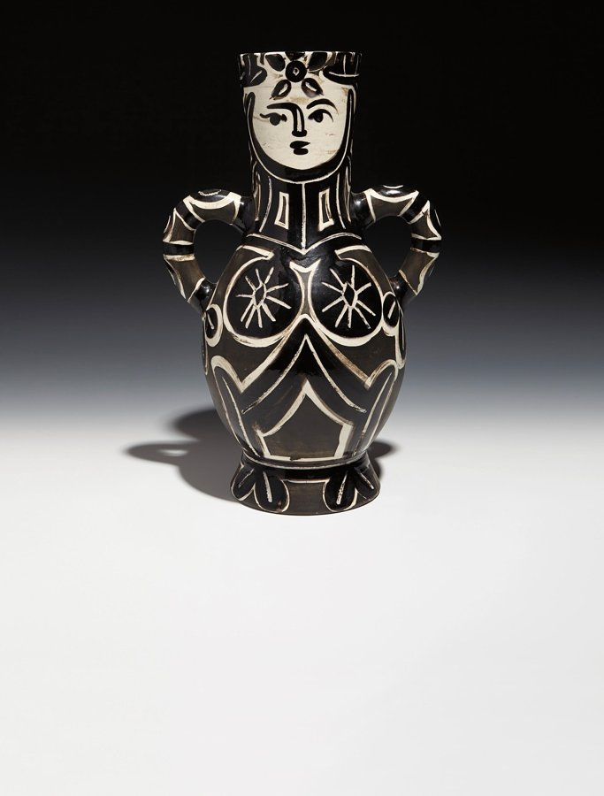 Pablo Picasso-Vase deux anses hautes (Vase with Two High Handles, The Queen) (A. R. 213)-1953