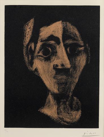 Pablo Picasso-Visage-1962