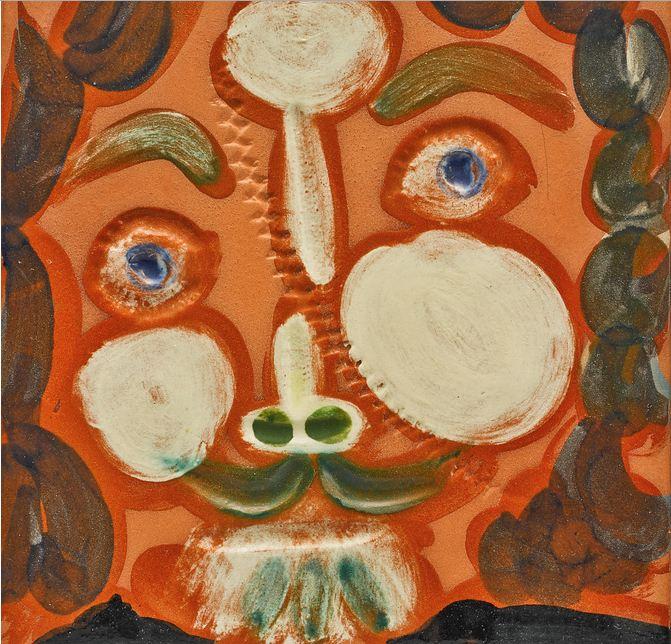 Pablo Picasso-Visage Au Trait Oblique (Alain Ramie 587)-1968