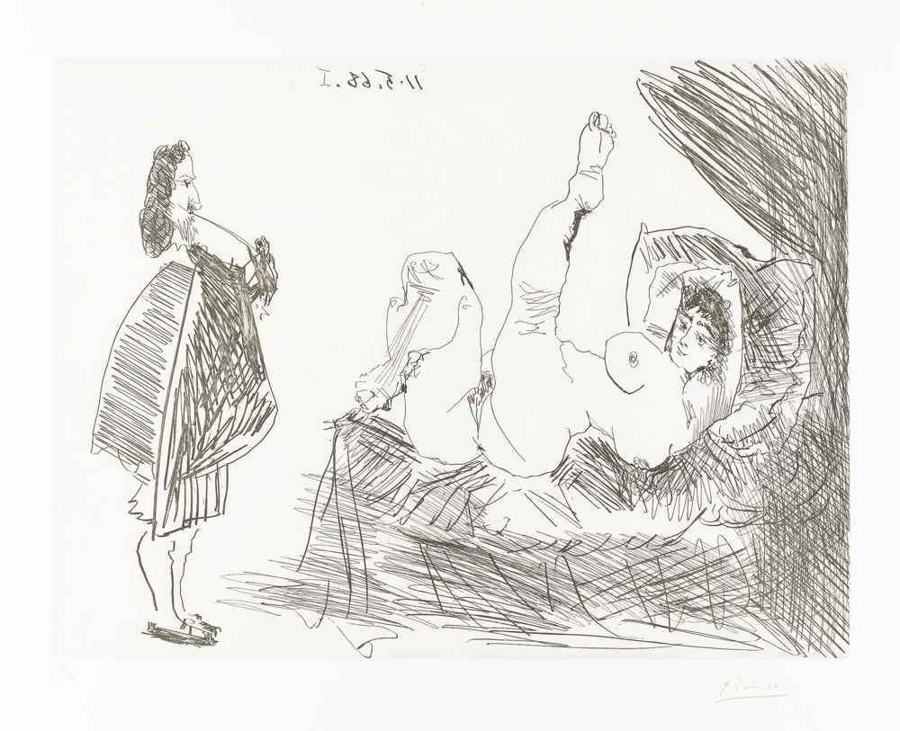 Pablo Picasso-Visiteur Rembranesque Chez Un Courtisane Folatre-1968
