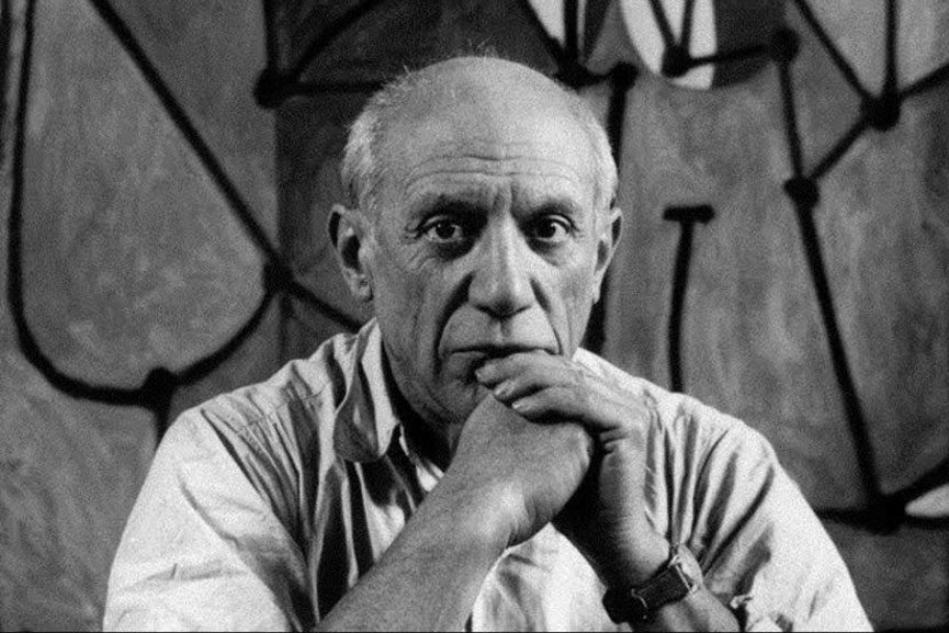 Article about most famous Pablo Picasso paintings and a photograph of Pablo Picasso by Herbert List for Magnum photos