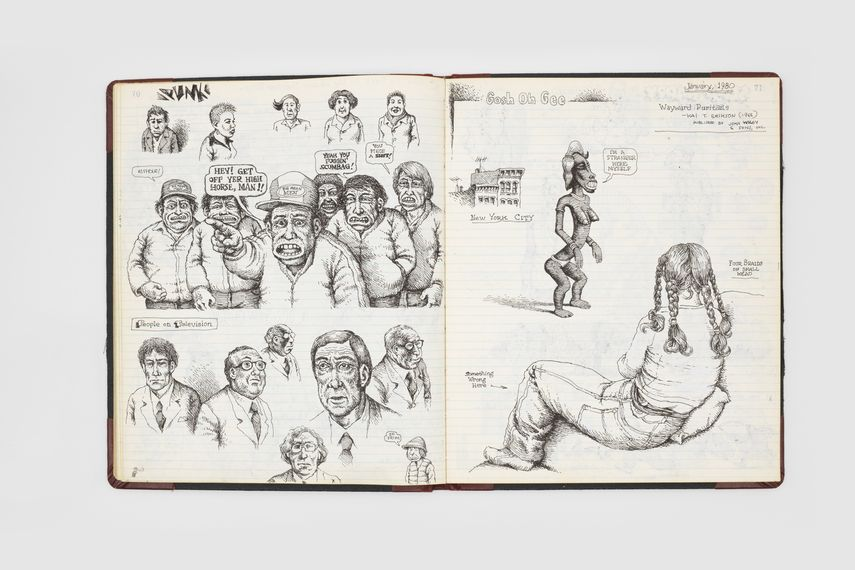 Page from Robert Crumb,  Complete Sketch book, 1979-1981