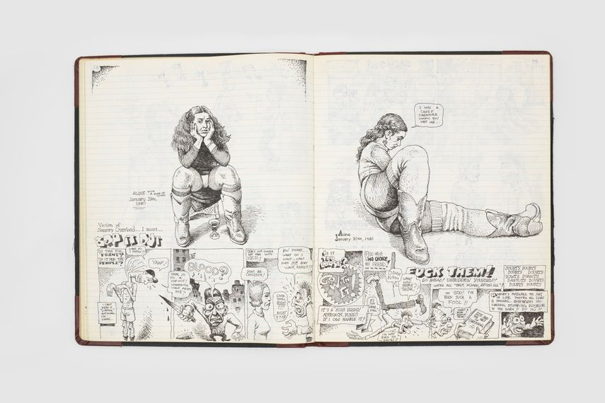 Page from R. Crumb, Comics Sketchbook, 1979-1981