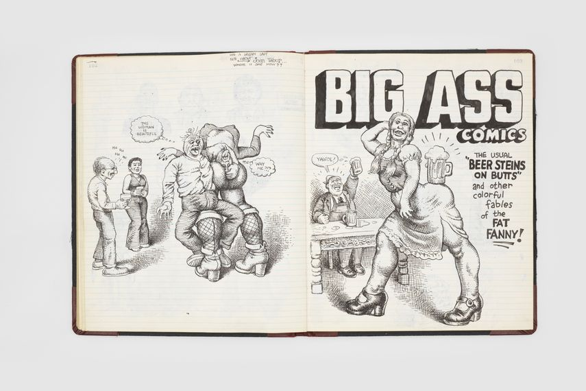 Page from Robert Crumb, Comics Sketch book, 1979-1981
