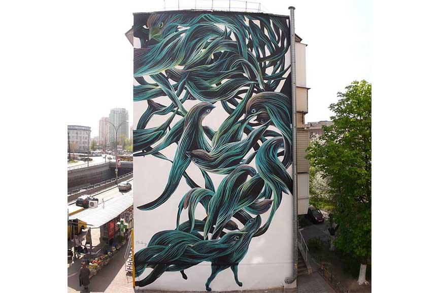 Pantonio - mural, Kiev, Ukraine via Facebook