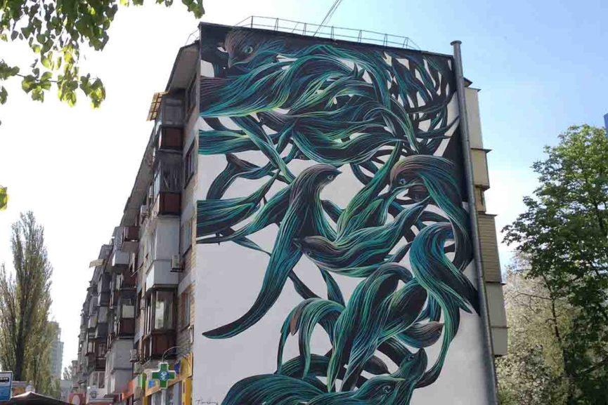 Pantonio - mural, Kiev, Ukraine via streetartnews net