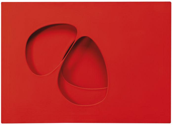 Paolo Scheggi-Intersuperficie Rossa-1963