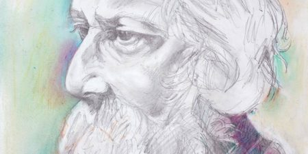Paritosh Sen - Portrait of Rabindranath Tagore (Detail) - Courtesy of Artiana