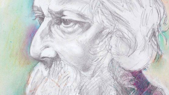Paritosh Sen - Portrait of Rabindranath Tagore (Detail) - Courtesy of Artiana