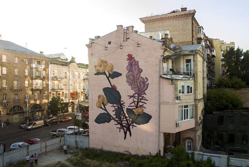 Pastel - Two Peasants, Kiev, Ukraine, 2016