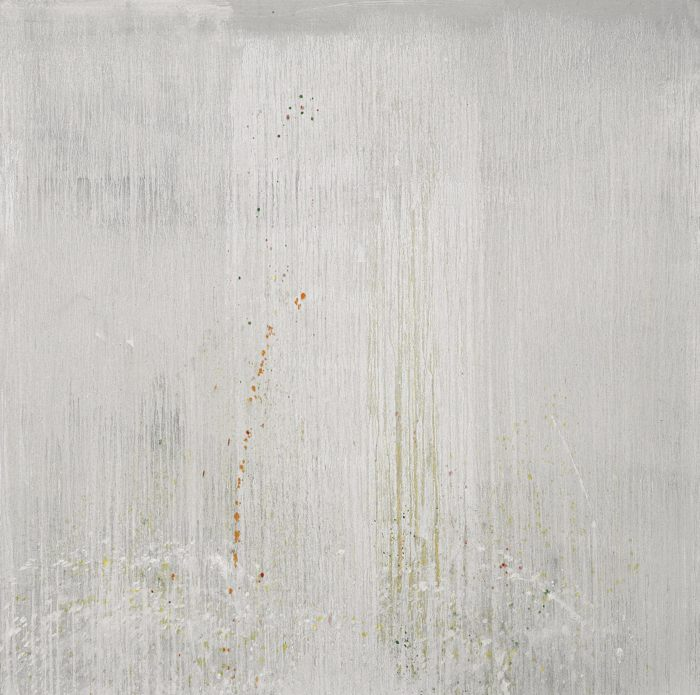 Pat Steir-Silver Sea Coast With Confetti Flies-1998