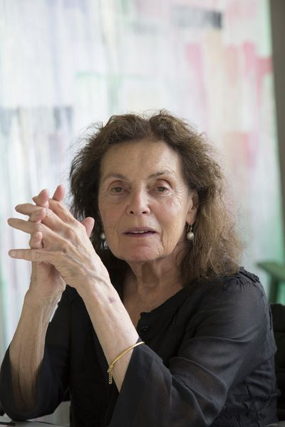 Pat Steir in her studio